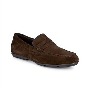 BRAND NWT Bruno Magli Brown Suede Slip-On Loafer